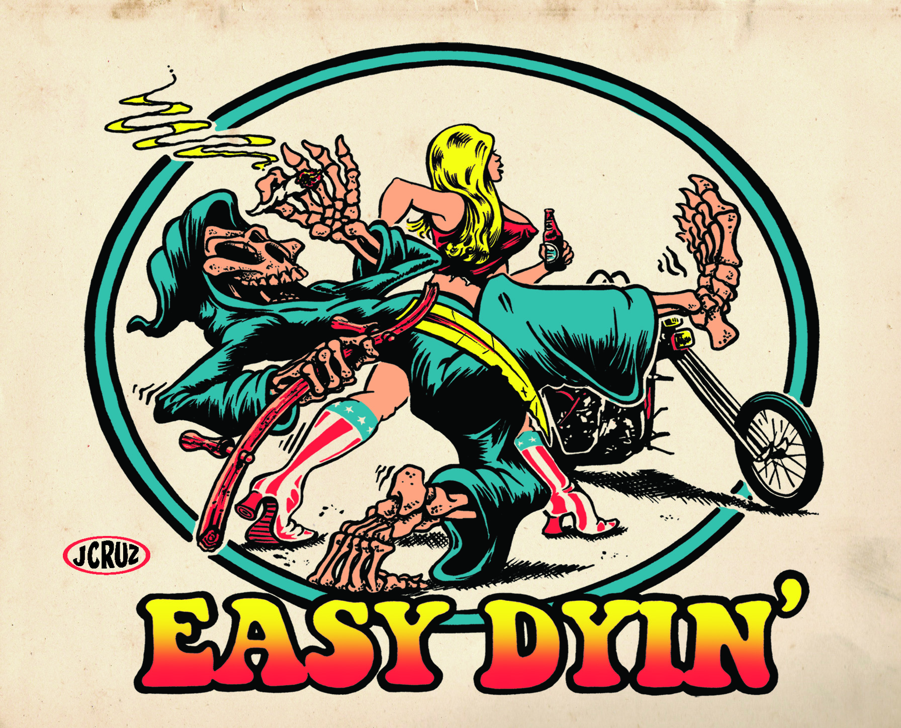 EASY DYIN'-glass COLOR